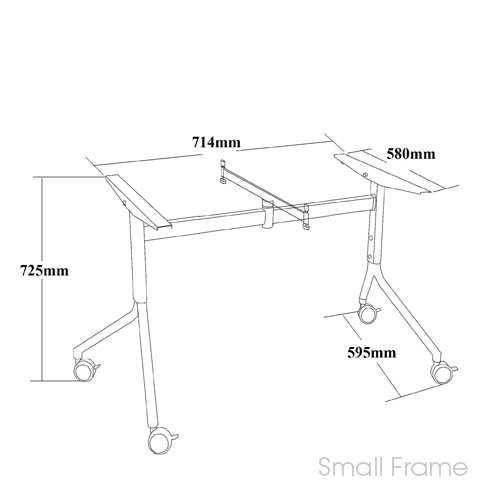 Foldy Folding Table Flip Top Office Tables Mobile Training Table - Foldable training table