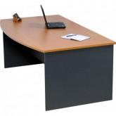 Origo Bow Front Office Desk with Optional Raised Hob