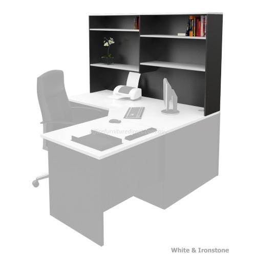 desk hutch storage shelving unit white ironstone. Black Bedroom Furniture Sets. Home Design Ideas