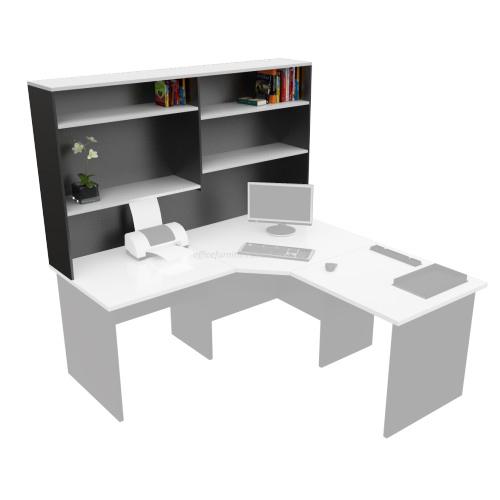 desk hutch storage shelving unit white ironstone