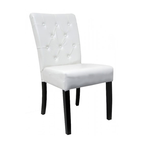 Hyde park dining chair upholstered studded timber frame for Upholstered studded dining chairs