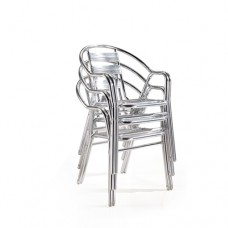 Stackable Lightweight Metal Tubing Cafe Chair