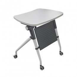 Flip Top Exam Lecture Training Table with Modesty Panel and Storage Tray