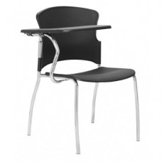 Opal 100 Plastic 4 Leg Chair with tablet