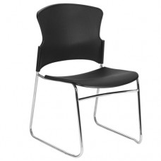 Adam Chair, Focus Chair - Plastic Sled Base Stacking Conference Visitor Chairs - Opal 300