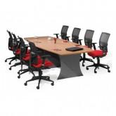 Origo Boat Shaped Boardroom Meeting Table
