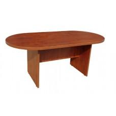Origo Boardroom Meeting Table - D End 2400 x 1200 - Dark Cherry