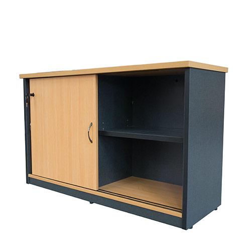 Origo Sliding Door Credenza Storage Cupboard Lockable 1800mm