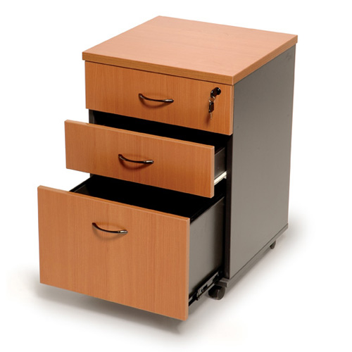 Furniture To Buy Online: Mobile Pedestal 3 Drawer Lockable From BuyDirectOnline.com.au