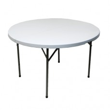 Trestle Table Round Top - Poly with Folding Legs
