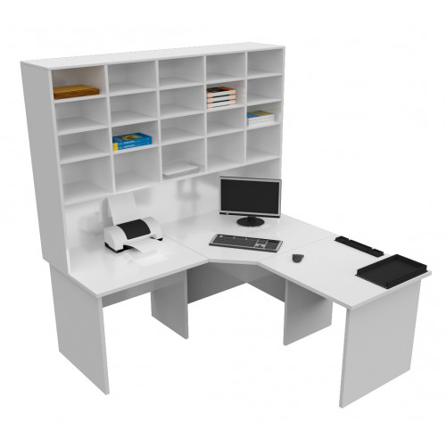 corner office desk hutch. Corner Office Desk \u0026 Pigeon Hole Hutch O