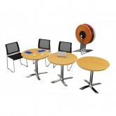 Reno Flip Top Meeting Table - Round