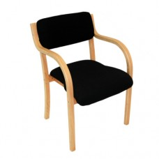 Spain Timber Chair, Wooden Waiting, Visitor, Conference Arm Chair