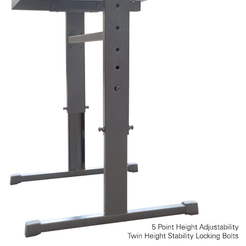 T-Leg Heavy-Duty Height Adjustable Desk With Drawer