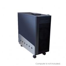 Mobile Metal Computer Tower / CPU Holder Slider - Grey
