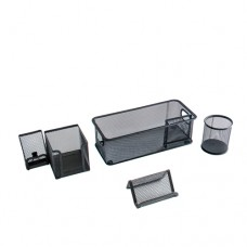 Metal Mesh 5 Piece Desk Accessory Kit