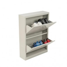Workboot Two Compartment Metal Storage Cupboard Lockable Stationary