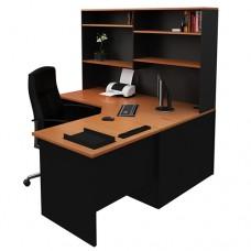 Corner Office Desk Workstation with Hutch, Home Study