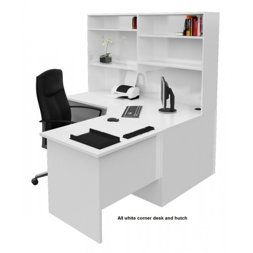 Origo corner office desk workstation with hutch home for Cheap home furniture sydney