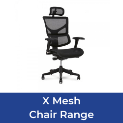X chair mesh range