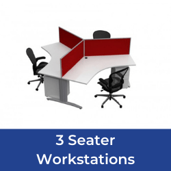 3 seater workstations