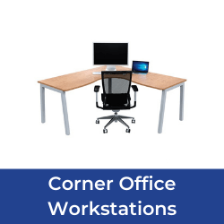 Corner office workstations