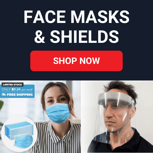 face masks banner