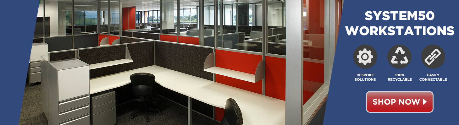 ... Office Workstation Ducted Screen Partition Furniture · Office50  Workstations And Screens Buy Now Banner