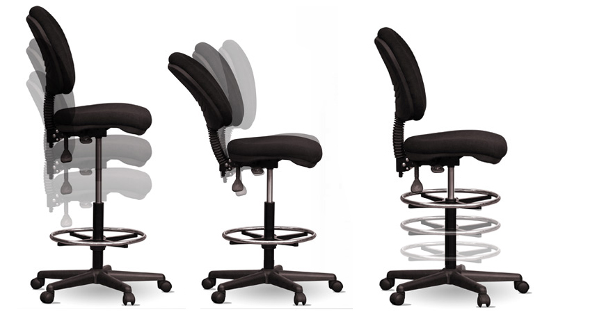 drafting chair ergonomic teller office counter chairs gas lift