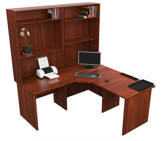 Home Corner Workstation Office Desk With Hutch Study Furniture Computer Des